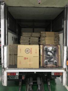 台北市搬家案例.北醫庫房整理紙箱與移動上架定位
