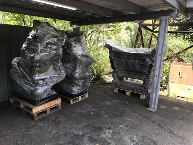 新北市搬家案例.林口寺廟搬家-大型石像、佛像搬運6