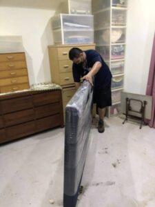 新北市新莊區住家皮質床頭片包裝防護運送