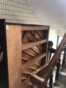 台北市士林區-搬廢棄鋼琴至一樓巷口回收